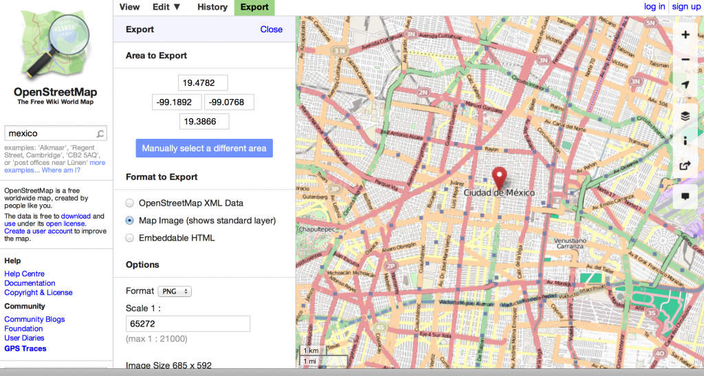 Downloading map information from OpenStreetMap