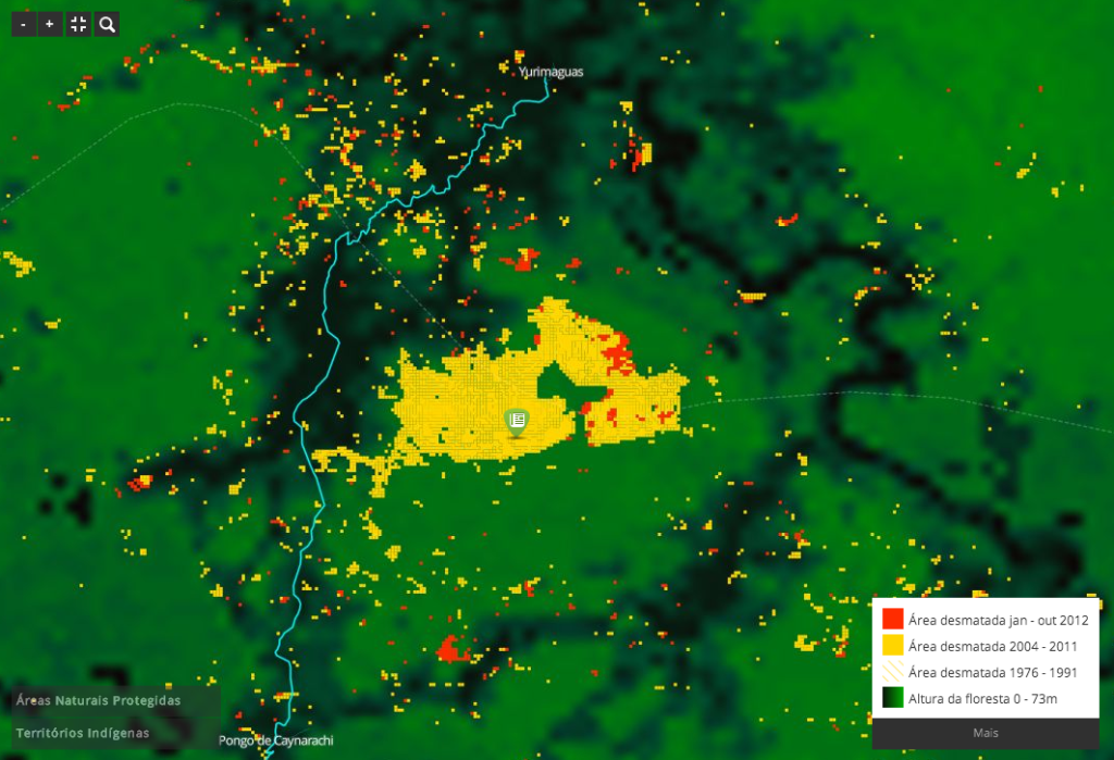 Mapping deforestation in the Amazon Rainforest, via InfoAmazonia.org. InfoAmazonia is a primary example of GeoJournalim, the practice of contextualizing local news with visuals derived from satellites, sensors, and open data.