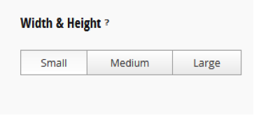 Width and Height